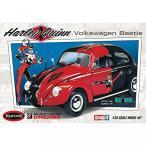フォルクスワーゲン ミニカー Batman Harley Quinn Volkswagen Beetle 1:24 Scale Snap-Fit Model Kit 輸入品