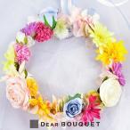 花冠 花かんむり ウェディング ヘッドドレス 結婚式 アート 結婚祝い ブライダル パーティ