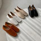 ローファー バブーシュ フラットシューズ スクエアトゥ レディース ぺたんこ 黒 茶色 白 ブラック ブラウン ホワイト ベージュ 革靴 おじ靴 靴 婦人靴 韓国