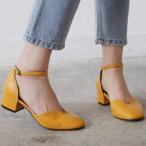 ショッピングストラップ パンプス アンクルストラップ  パンプス レディース ローヒール 太ヒール  黒 ブラック ブルー 靴 婦人靴 歩きやすい 痛くない