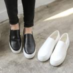 スリッポン レディース スニーカー ブラック 黒 ホワイト 白 シンプル 厚底 カジュアル 婦人靴 レディースシューズ