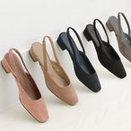 パンプス ローヒール フラットシューズ バックストラップ ぺたんこ ペタンコ スエード 黒 ブラック ベージュ レディース 靴 婦人靴