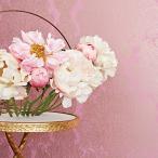 輸入壁紙 ANNA FRENCH メタリックダマスク柄 ピンク ゴールド AT6103