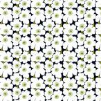 ミニウニッコ(Mini Unikko) 910 コットンファブリック生地★ブラック x グリーン x ホワイト★35cm*25cmサイズ★マリメッコ Marimekko