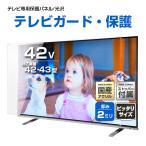 ショッピング液晶テレビ 液晶テレビ保護パネル42型(42インチ)クリアパネル『厚2ミリ通常タイプ』 採寸不要!