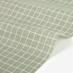 【30%OFF】生地・布  ≪ Neutral colors - cross stripe ≫ ハーフリネン/幅146cm 【オリジナル生地】 【10cm単位販売】