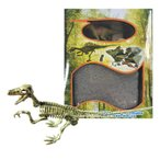 知育玩具 恐竜発掘キット ヴェロキラプトル 科学工作 化石 自由研究 考古学者 恐竜