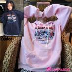 パーカー 長袖 フリース ダービープリント ネイビー ピンク レディース ファッション 大きいサイズ ビッグシルエット 原宿系 韓国系