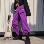 ボトムス カーゴパンツ  ロゴ スポーティ ユニセックス ダンス 衣装 韓国 ファッション 大きいサイズ 個性的 服 原宿系