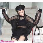 セットアップ メッシュ スポーティ ショートパンツ 黒 白 シースルー ネット カジュアル  レディース ファッション ダンス ヒップホップ 衣装 原宿系 韓国系
