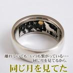 指輪 リング メンズ 刻印 オオカミ 狼 シルバー ジュエリー ハンドメイド 同じ月を見てた