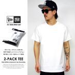 ニューエラ NEW ERA Tシャツ メンズ 半袖 無地 2枚組 パックTシャツ 2-Pack Tee 白 ホワイト