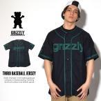 ショッピングジャージ Grizzly Griptape グリズリーグリップテープ ベースボールシャツ メンズ 半袖 ジャージ 上 THIRD BASEBALL JERSEY