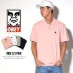 OBEY オベイ ポロシャツ 半袖 メンズ ROSE S/S POLO