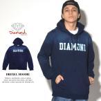 Diamond Supply Co. ダイヤモンドサプライ スウェットプルオーバーパーカー メンズ デニム風 インディゴ染め ダメージ加工 DREXEL HOODIE