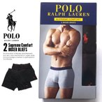 ポロ ラルフローレン Polo Ralph Lauren ボクサーパンツ メンズ 2枚セット USAモデル ブラック SUPREME COMFORT 2 BOXER BLIEFS 秋冬