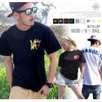 Tシャツ メンズ 半袖 大きいサイズ LA ロゴT アメカジ サーフ系 B系 ストリート系 ファッション