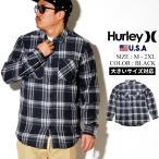 Hurley (ハーレー) チェックネルシャツ メンズ 長袖 USAモデル クリッパーウォッシュドロングスリーブ ブラック 黒 (CJ5212)
