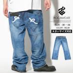 ロカウェア ROCAWEAR ジーンズ メンズ デニムパンツ ルーズフィット B系ファッション 大きいサイズ (R1108J200) 2017春夏 新作