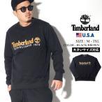 ティンバーランド トレーナー メンズ 裏起毛スウェット USAモデル TImberland エッセンシャル ロゴ クルーネック スウェットシャツ