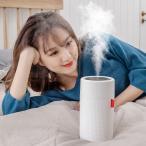 【令和革新モデル】 加湿器 卓上 usb充電式 2000mAh大容量 アロマディフューザー コードレス 超静音 アロマ 除菌 ペットボトル 超音波式 加湿器
