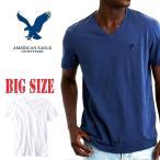 SALE 大きいサイズ メンズ AMERICAN EAGLE アメリカンイーグル AEOレジェンドVネックTシャツ XL XXL XXXL