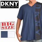 大きいサイズ メンズ DKNY ダナキャランニューヨーク Vネック 半袖Tシャツ XL XXL
