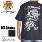 SALE 大きいサイズ メンズ エドハーディー Ed Hardy 半袖Tシャツ LOVE KILL ラブキル クルーネック 3L 4L 5L