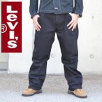 大きいサイズ メンズ LEVI'S/リーバイス 569-0125 ルーズストレートジーンズ ブラックデニムパンツ w38 w40 w42