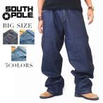 SALE 大きいサイズ メンズ SOUTHPOLE  サウスポール バギー 極太デニムパンツ ジーンズ オリジナルフィット 40インチ 42インチ