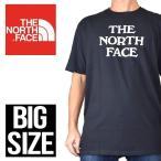 大きいサイズ メンズ ノースフェイス THE NORTH FACE 半袖 ロゴ Tシャツ ブラック 黒 XL XXL XXXL