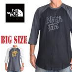 大きいサイズ メンズ ノースフェイス THE NORTH FACE ラグラン 七分袖 Tシャツ USA直輸入 Classic fit XL XXL