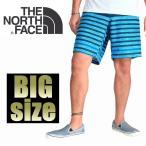 大きいサイズ メンズ THE NORTH FACE ザ・ノースフェイス ボーダーショーツ 水着 ハーフパンツ 海パン 38 40インチ