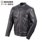 レザージャケット メンズ 本革 バイク ライダースジャケット 革ジャン 13WJ-1C ブラック