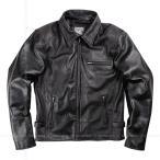 レザージャケット バイク 革ジャン 羊革 ライディングジャケット ブラック 17SJ-1