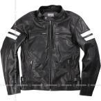 メンズメッシュレザージャケット Men's Mesh  Leather Jacket ブラック 17SJ-3-BK