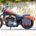 デグナー バイク ハーレー アメリカン サドルバッグ 本革 堅牢 鉄馬 ウィンカー避け 可変容量 SB-69 ブラック/レッド