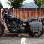 デグナー バイク アメリカン 本革バッグ 鉄馬 堅牢 可変容量 SB-64IN ブラック