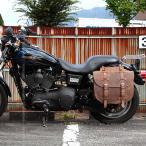 デグナー バイク アメリカン 本革バッグ 鉄馬 堅牢 可変容量 SB-64IN ブラウン