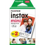 (在庫あり:2/25〜発送)富士フイルム インスタントカラーフィルム instax mini 2個パック ホワイト INSTAXMINIJP2 チェキフィルム