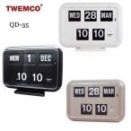TWEMCO トゥエンコ デジタルカレンダークロック パタパタ時計 置き・掛け兼用 qd-35