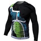 UDW-334 ドラゴンボール バーダック 仮面のサイヤ人 格闘技 インナー 筋トレ アンダーウエア ロングTシャツ 各size