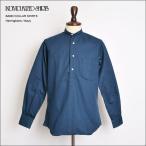 ショッピングINDIVIDUALIZED INDIVIDUALIZED SHIRTS インディビジュアライズドシャツ  L10NHO-H BAND COLLAR L/S Herringbone Navy バンドカラー/長袖シャツ