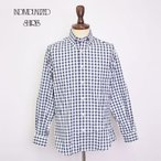 INDIVIDUALIZED SHIRTS インディビジュアライズドシャツ  A28NOP BASIC BUTTON DOWN  L/S SHIRTS CUSTOM FIT Navy Gingham メンズ 長袖シャツ