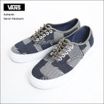 VANS MENS バンズ メンズ Authentic VN0A38EMMOY VN-0A38EMMOY Denim Patchwork Navy True White オーセンティック メンズスニーカー 靴 2017SP