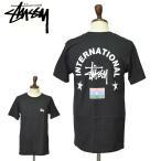 ワケあり-1454 メール便 STUSSY ステューシー 1904227 STUSSY INT. ARC TEE Black ブラック メンズ Tシャツ 半袖 カットソー 男性 プチギフト プレゼント ギフト