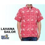 Reyn Spooner/レインスプーナー アロハシャツ ラハイナセーラー LAHAINA SAILOR フルオープン 赤 レッド