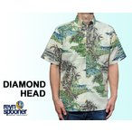 Reyn Spooner/レインスプーナー アロハシャツ ダイヤモンドヘッド DIAMOND HEAD サンド