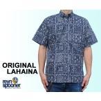 Reyn Spooner/レインスプーナー アロハシャツ オリジナルラハイナ ORIGINAL LAHAINA フルオープン 紺 ネイビー