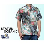 Reyn Spooner/レインスプーナー アロハシャツ STATUS OCEANIC フルオープン 黒 ブラック